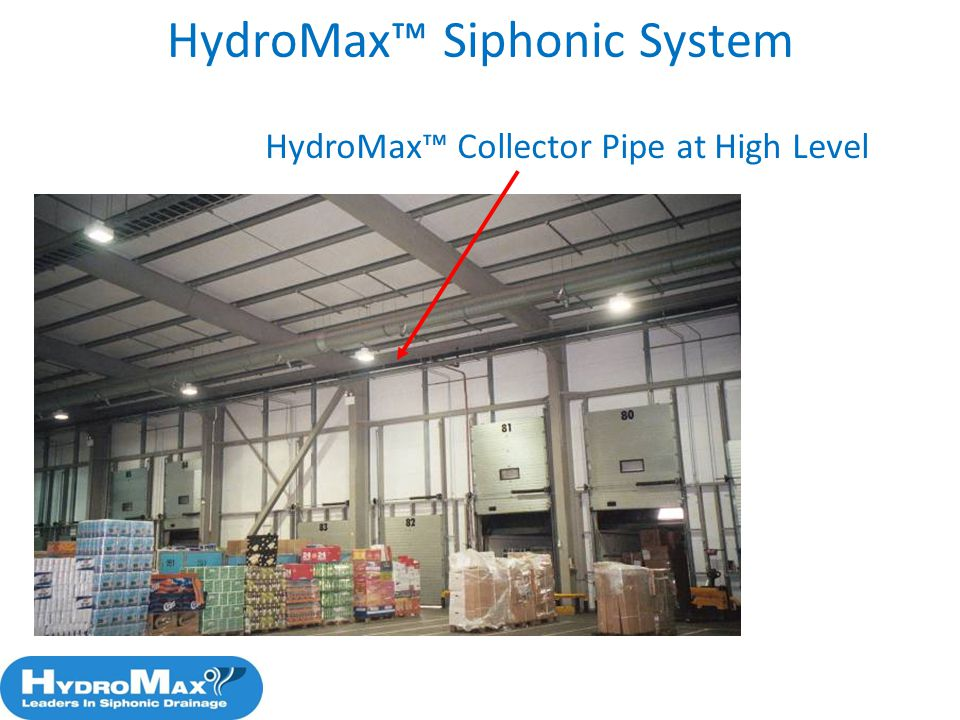 66 HydroMax Collector Pipe at High Level HydroMax Siphonic System