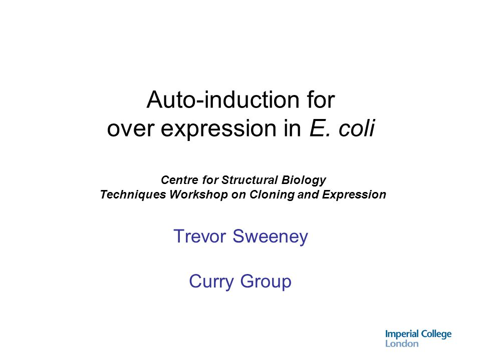 Method Expression from a single colony usually works - but not always.