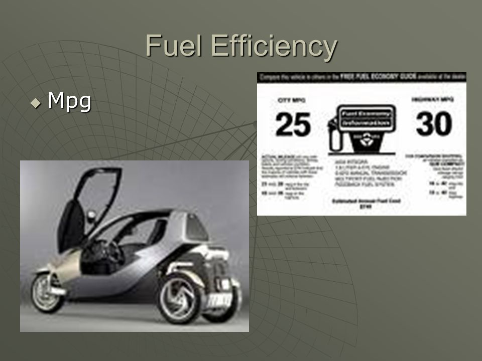 Fuel Efficiency Mpg Mpg