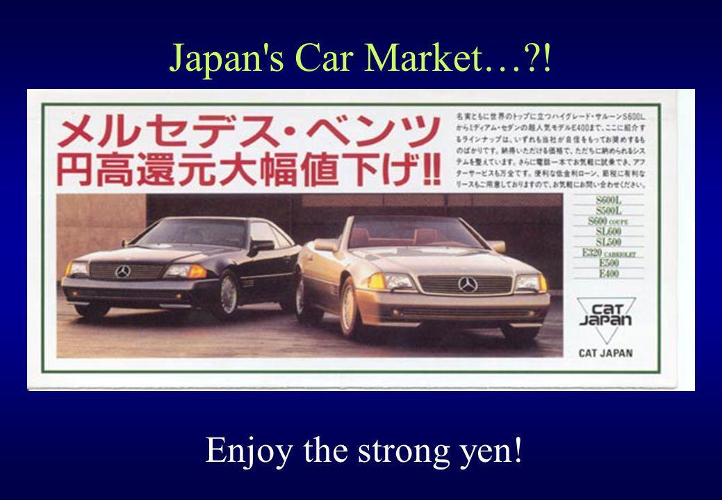 Japan s Car Market… ! Enjoy the strong yen!