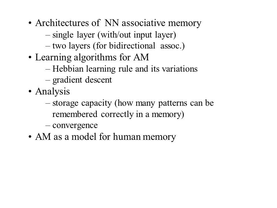 Example of auto-associative memory Same as hetero-associative nets, except t(p) =s (p).