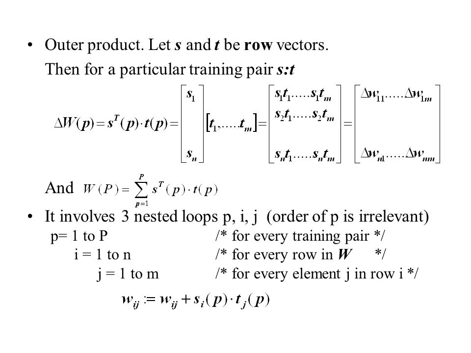 Notes: 1.Each unit should have equal probability to be selected at step 2.1 2.Theoretically, to guarantee convergence of the recall process, only one unit is allowed to update its activation at a time during the computation.
