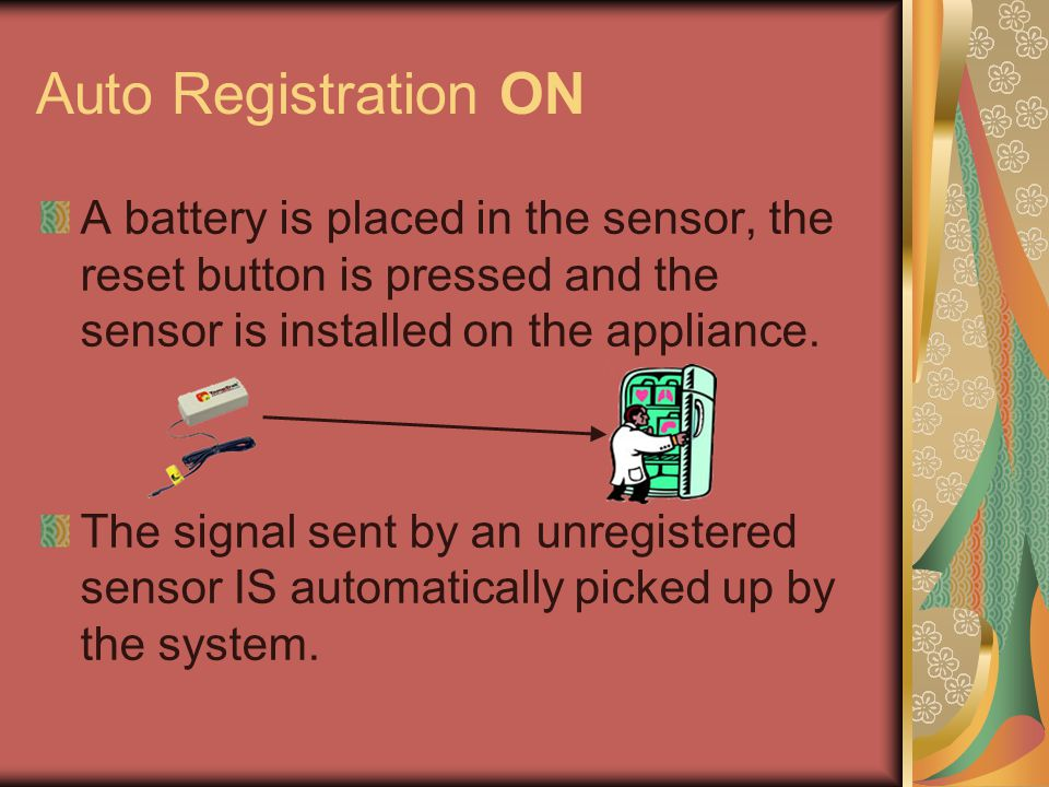 Birth of an AUTO-ADD The system automatically registers the sensor with the title AUTO-ADD SENTRY XXXXXX.