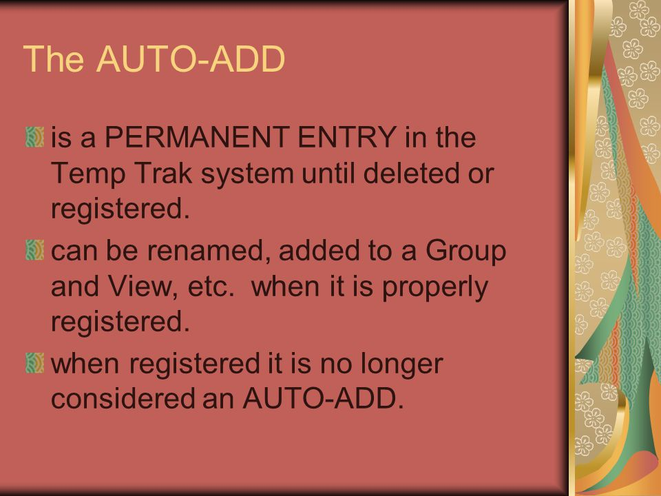 Auto Registration Off A battery is placed in the sensor, the reset button is pressed and the sensor is installed on the appliance.