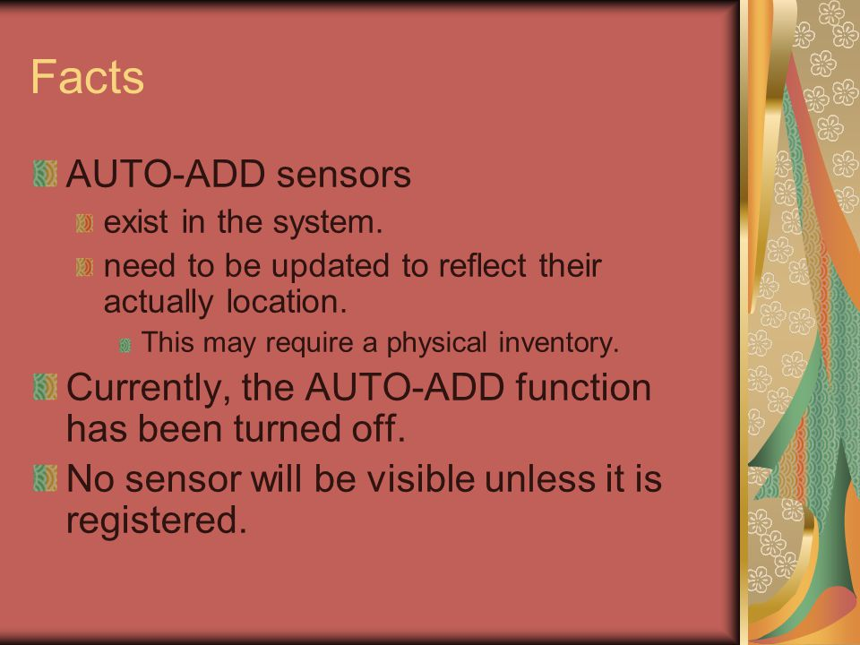 Things to Do Contact MCIT, Lori Bruce, 7-8165 WHEN: an AUTO-ADD SENTRY is displayed in your Group or View.