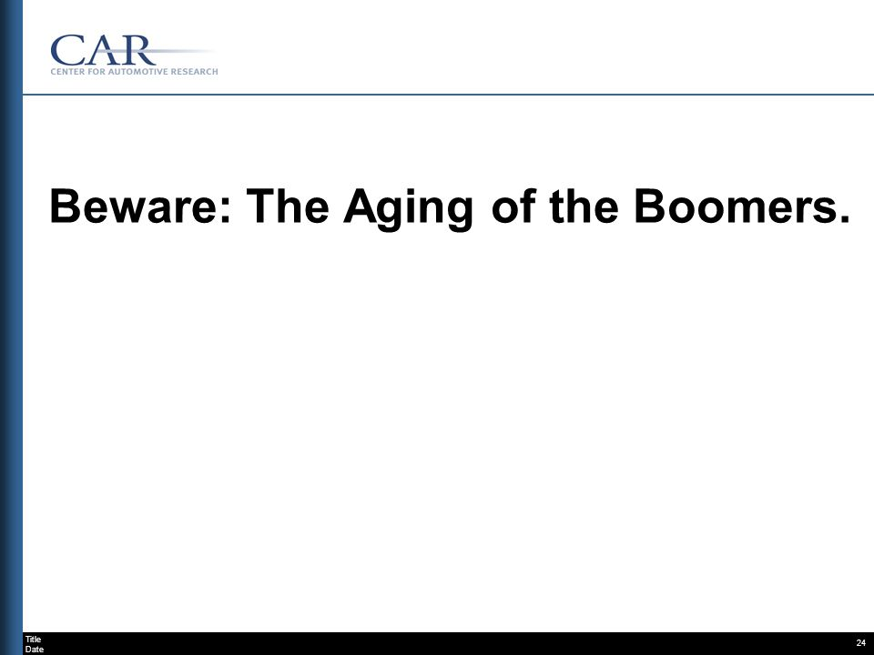 Title Date 24 Beware: The Aging of the Boomers.