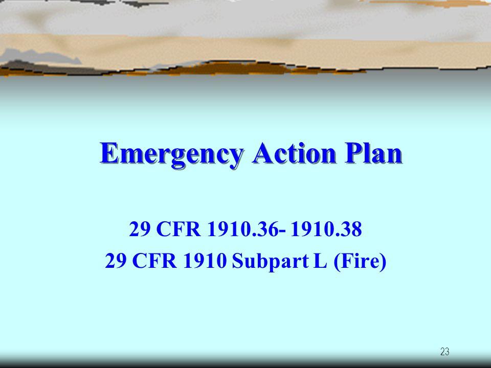 22 Auto Salvage Yard Safety/Health Hazards Emergency Action Plan Hazard Communication Bloodborne Pathogens (BBP) Personal Protective Equipment (PPE) M