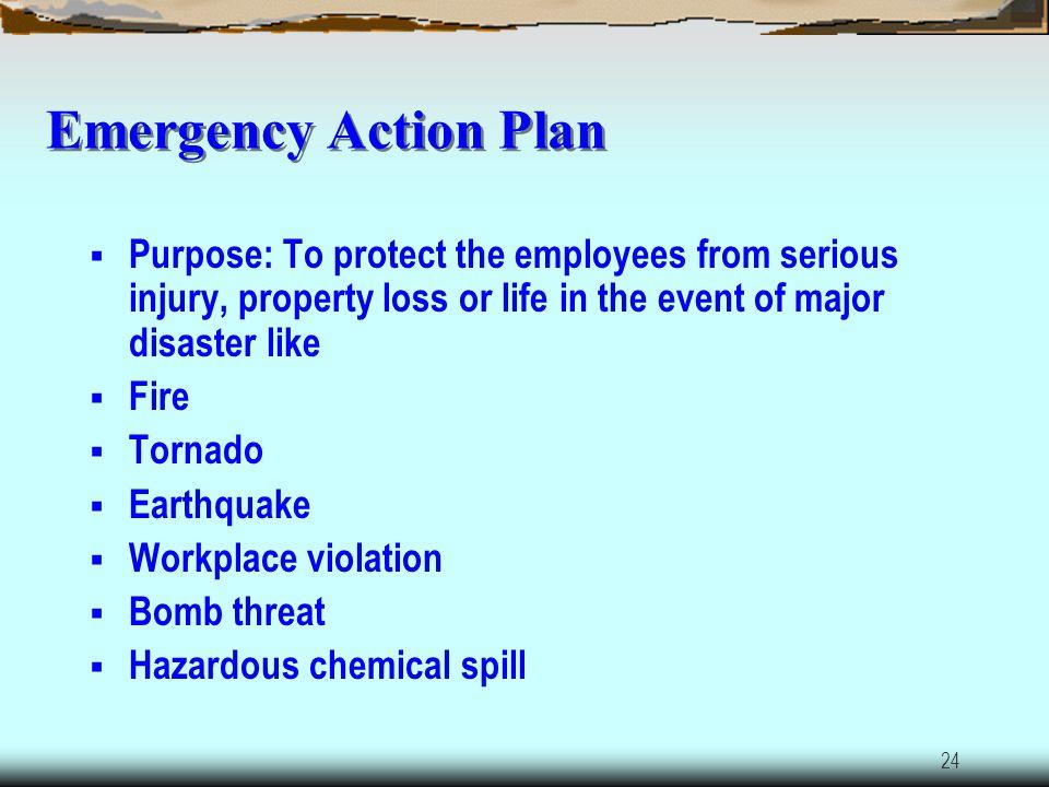 23 Emergency Action Plan 29 CFR 1910.36- 1910.38 29 CFR 1910 Subpart L (Fire)