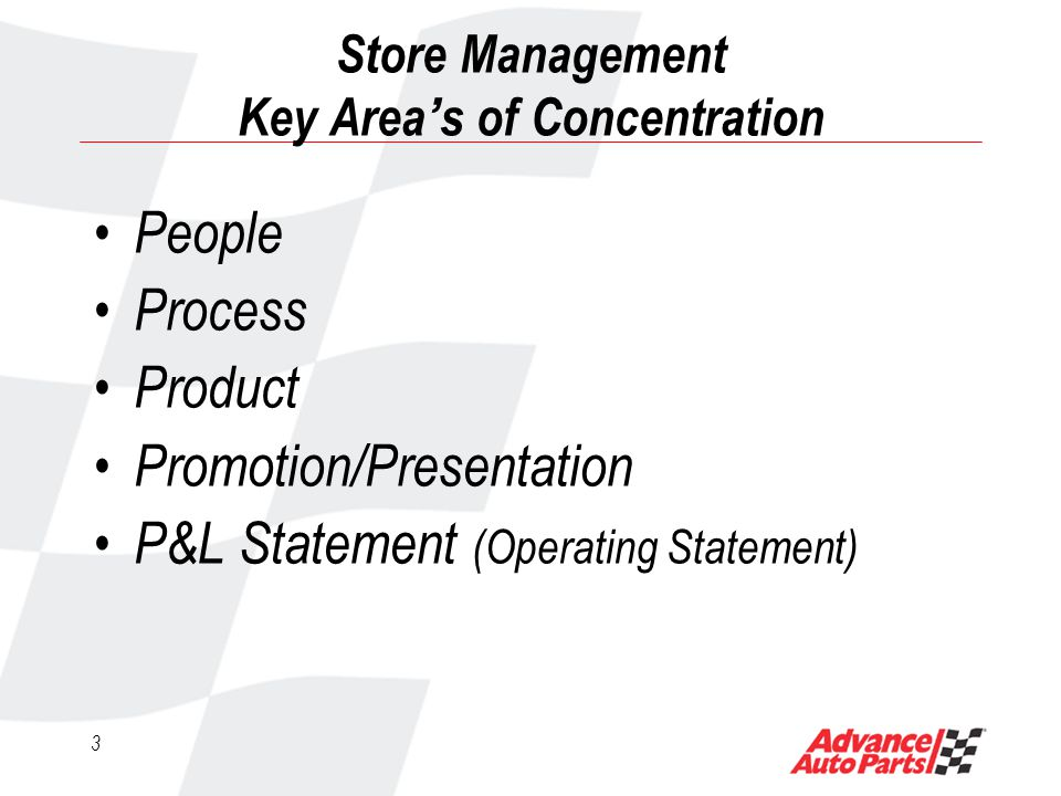 43 Store Presentation/Promotion Daily Store Inspection Daily Inside Store Inspection Use this process daily when walking the exterior of your store.