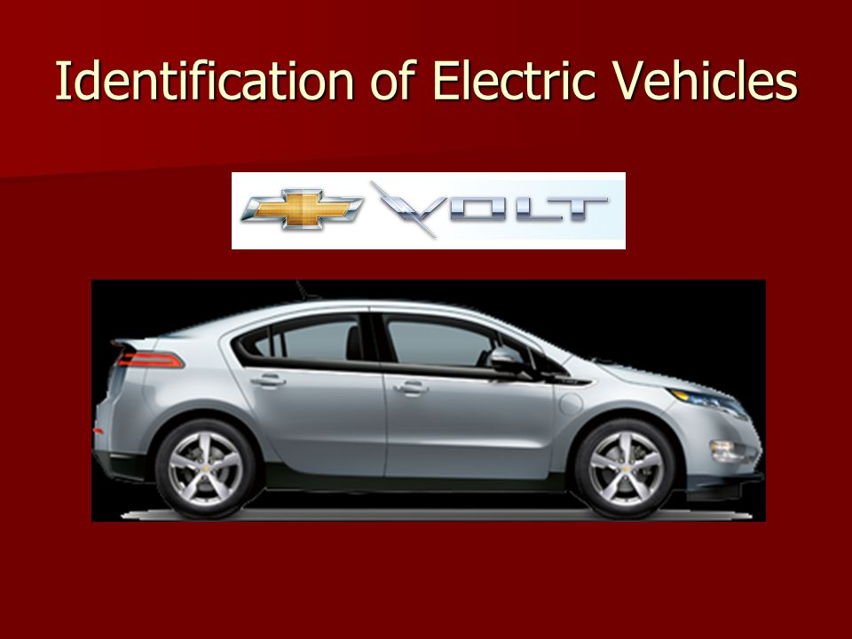 Identification of Electric Vehicles