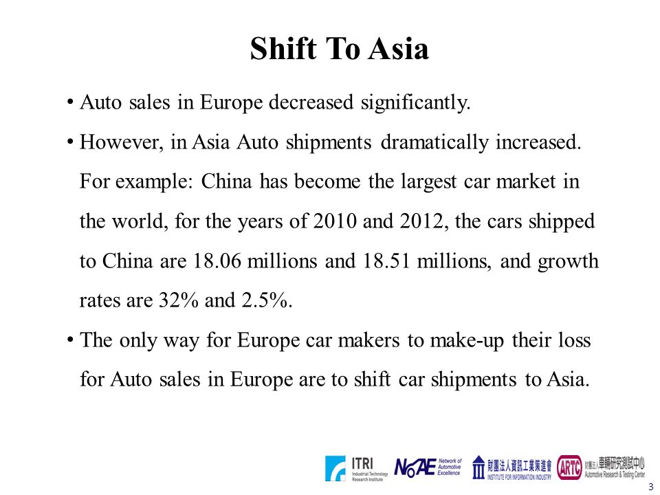 Europe Needs Good Partner In Asia Europe needs partner in oriental in order to cut into Asia market.