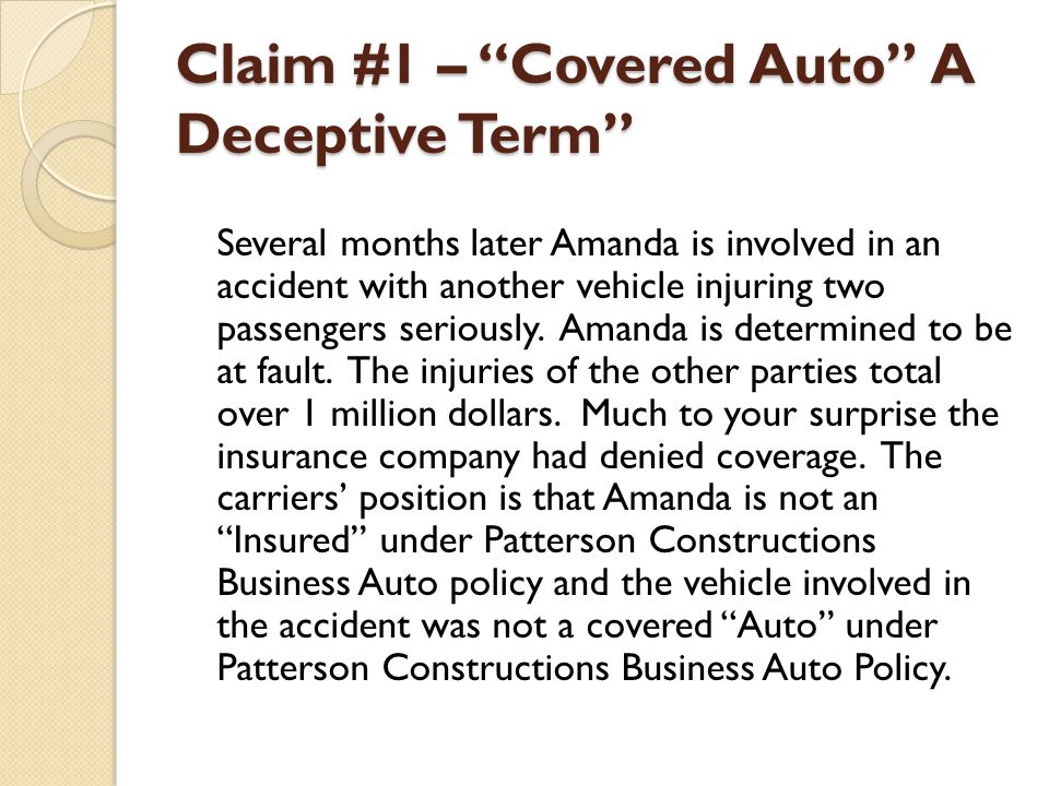 Claim #3 – Employee Hired Auto CA 20 54 – While We Are On A Roll Now that you have seen the form and made your decision concerning the liability claim lets go one step further.