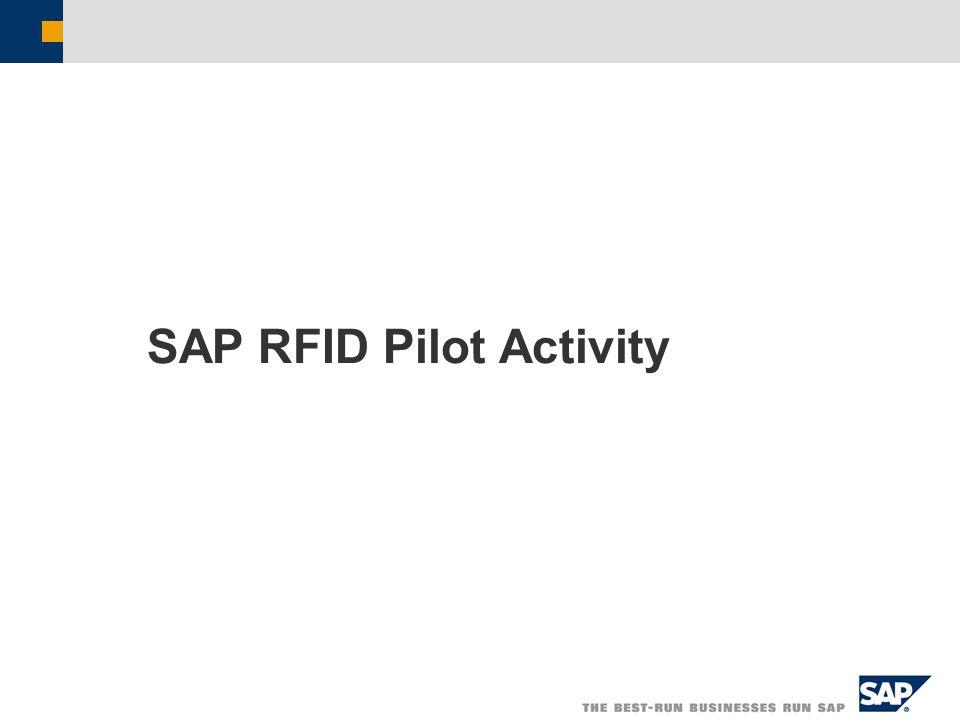 SAP RFID Pilot Activity