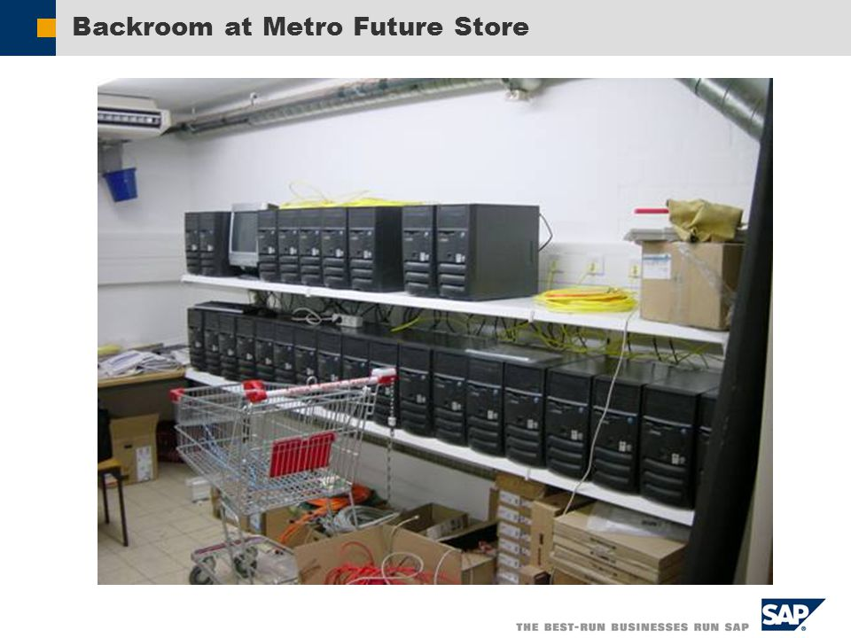 Backroom at Metro Future Store