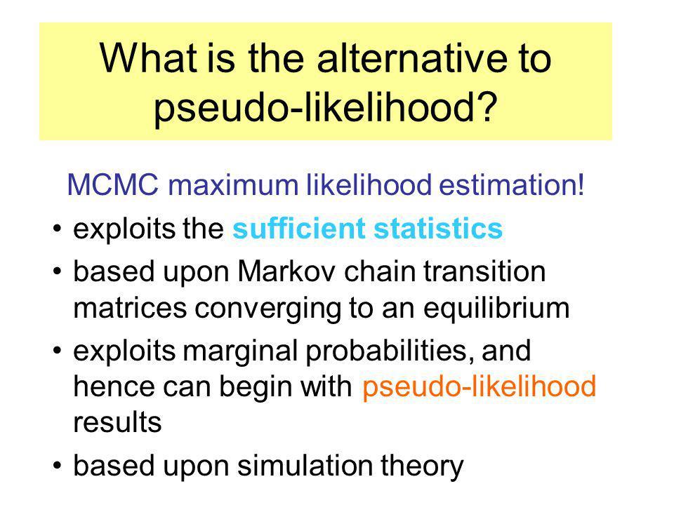 Preliminary estimation (pseudo- and quasi-likelihood) results: F/P (%) modelinterceptSAse SA dispersionDeviance binomial-1.100***** 945.96 auto-binomial-1.110.890.0010384.51 quasi-auto-binomial-1.100.890.01519.740.99 auto-logistic-2.030.800.032*****0.93