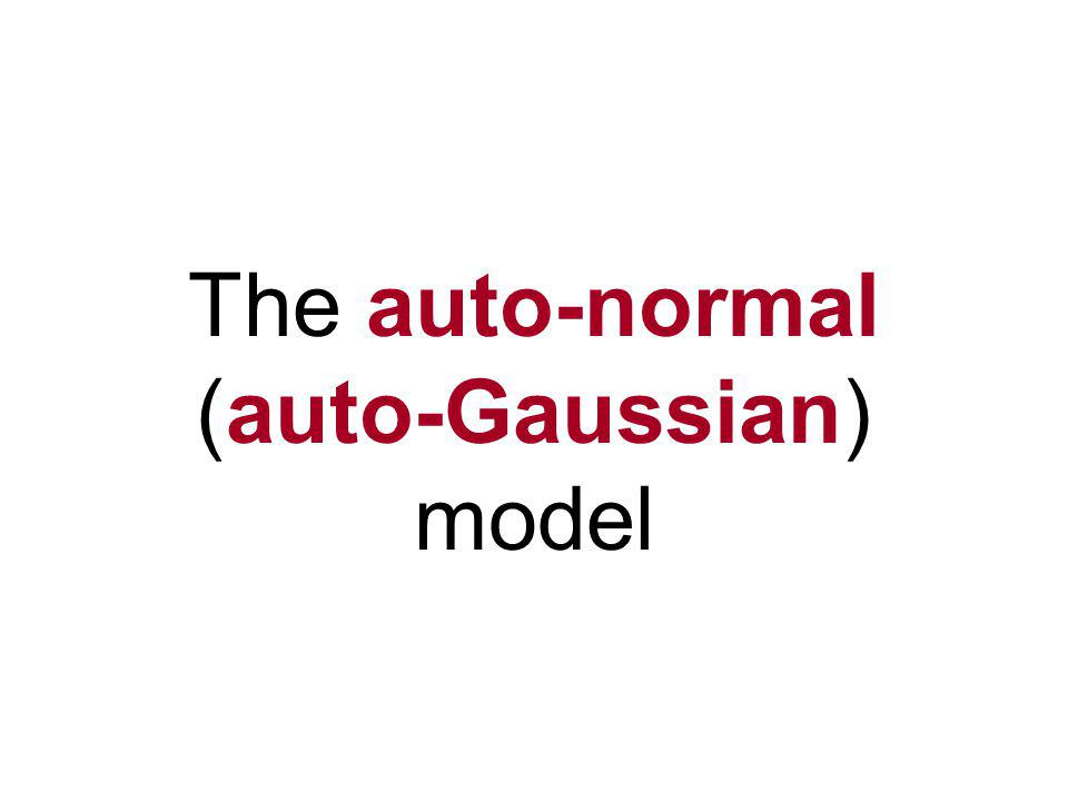 What is an auto- model? Y is on both sides of the = sign