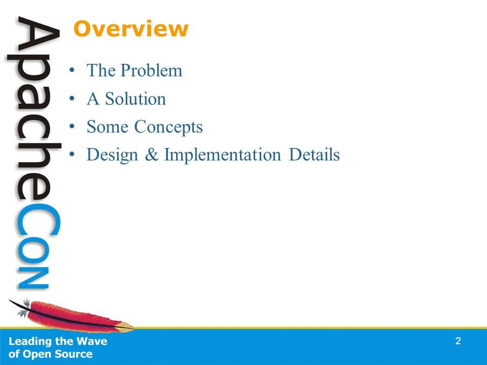 2 Overview The Problem A Solution Some Concepts Design & Implementation Details