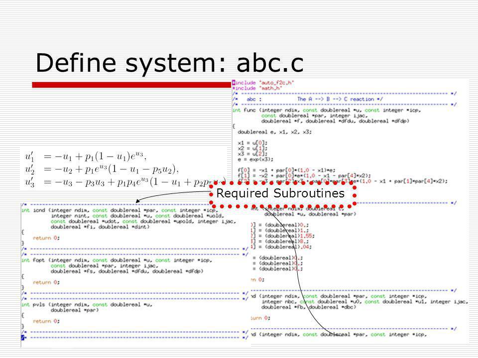 Define constants: c.abc Constants briefly described in: auto2000_quick_ref.pdf Run 1: save as c.abc.1