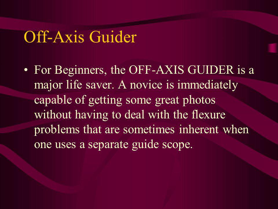 Off-Axis Guiders