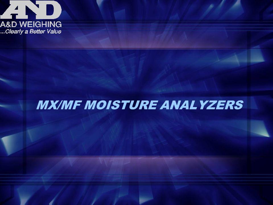 MX/MF MOISTURE ANALYZERS