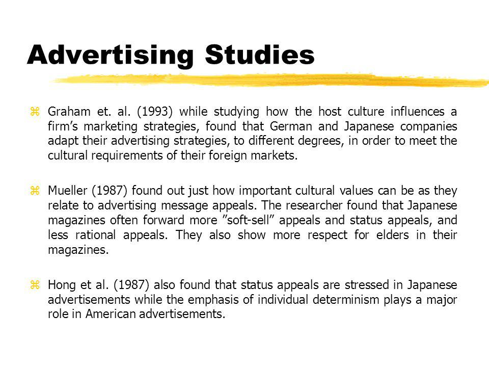 Advertising Studies zGraham et. al.