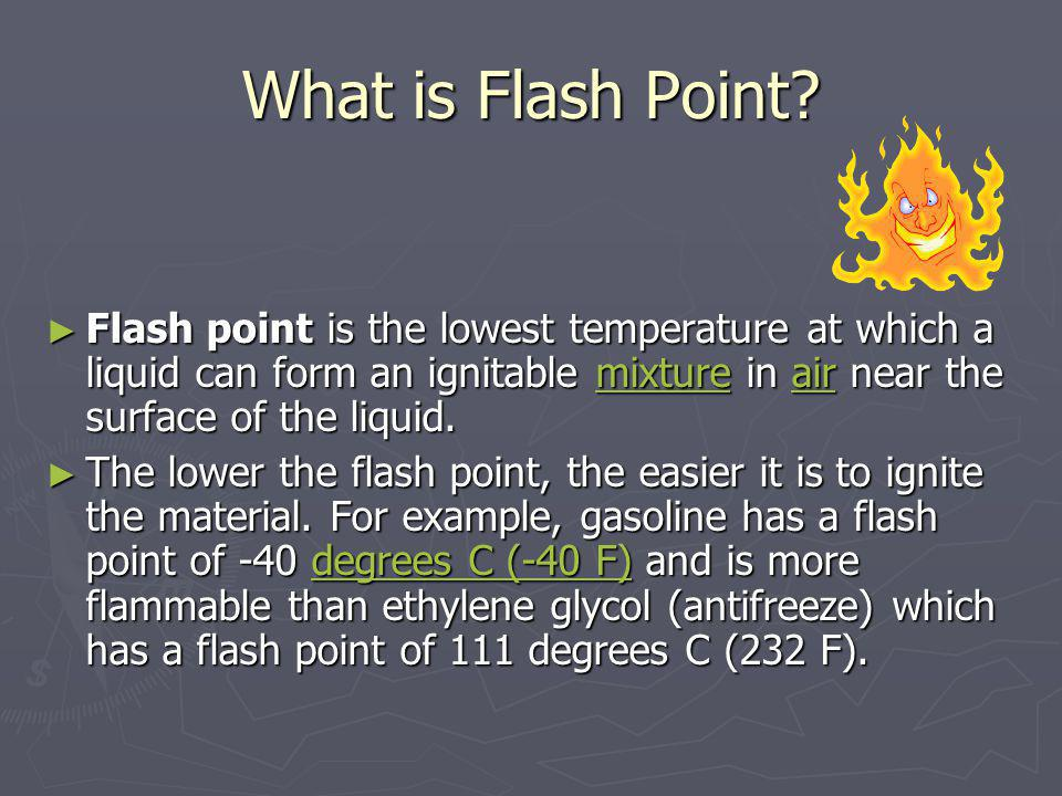 What Is Ignition Point Ignition point Ignition point The minimum temperature at which a substance will continue to burn without additional application of external heat.