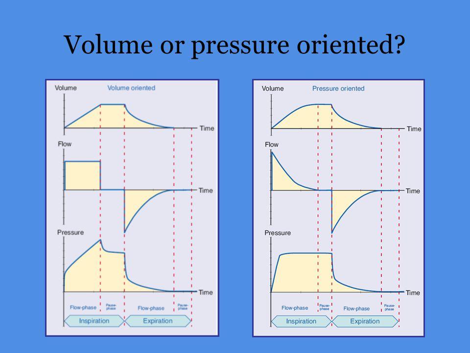 Volume or pressure oriented?