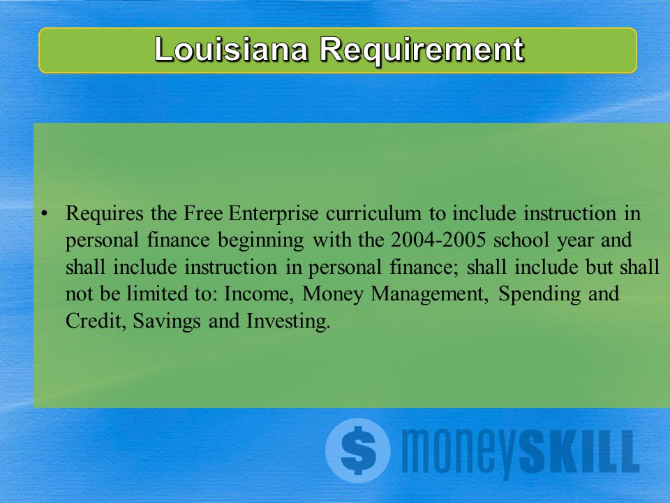 Requires the Free Enterprise curriculum to include instruction in personal finance beginning with the 2004-2005 school year and shall include instruct