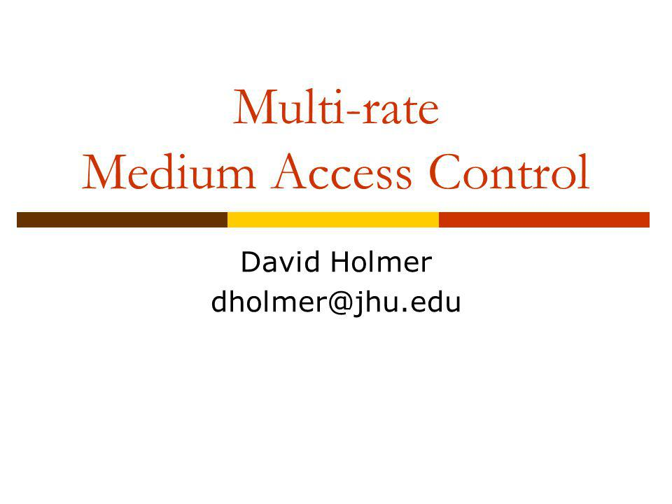 What is Multi-Rate.