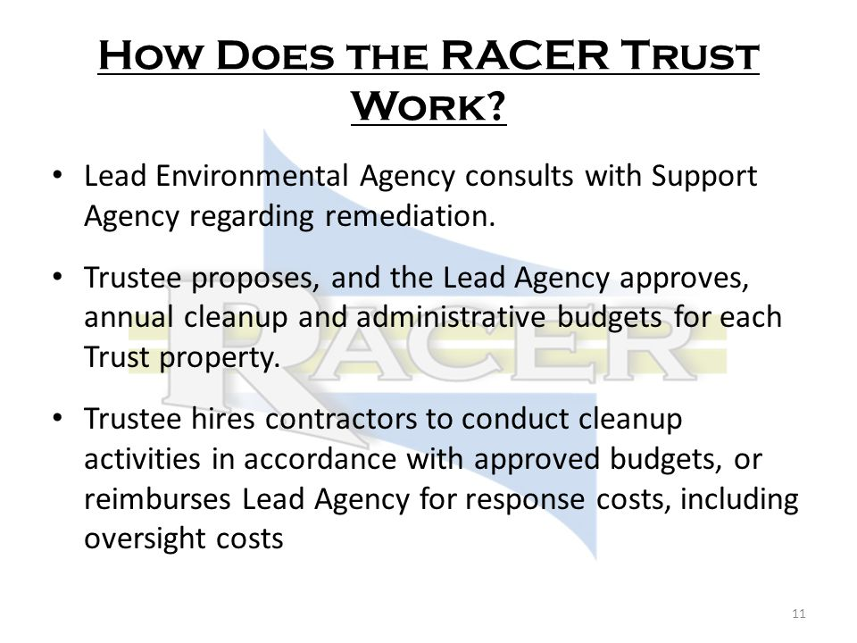 How Does the RACER Trust Work.