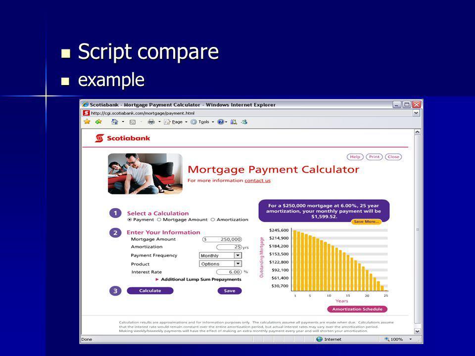 Script compare Script compare example example