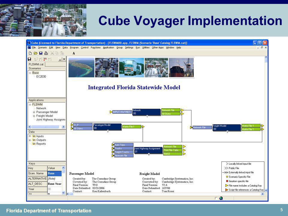 Florida Department of Transportation 5 Cube Voyager Implementation