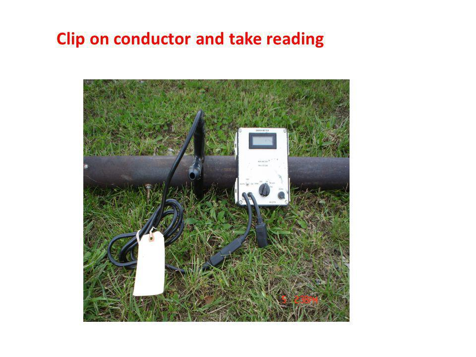 Clip on conductor and take reading