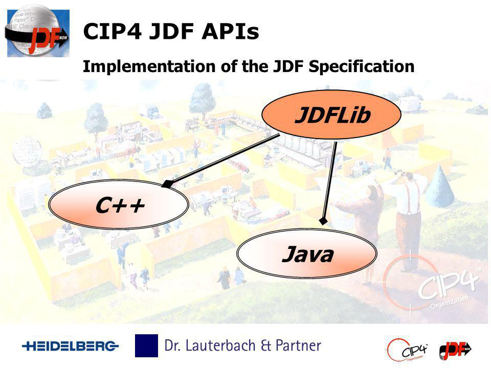 CIP4 JDF APIs JDFLib Implementation of the JDF Specification C++ Java