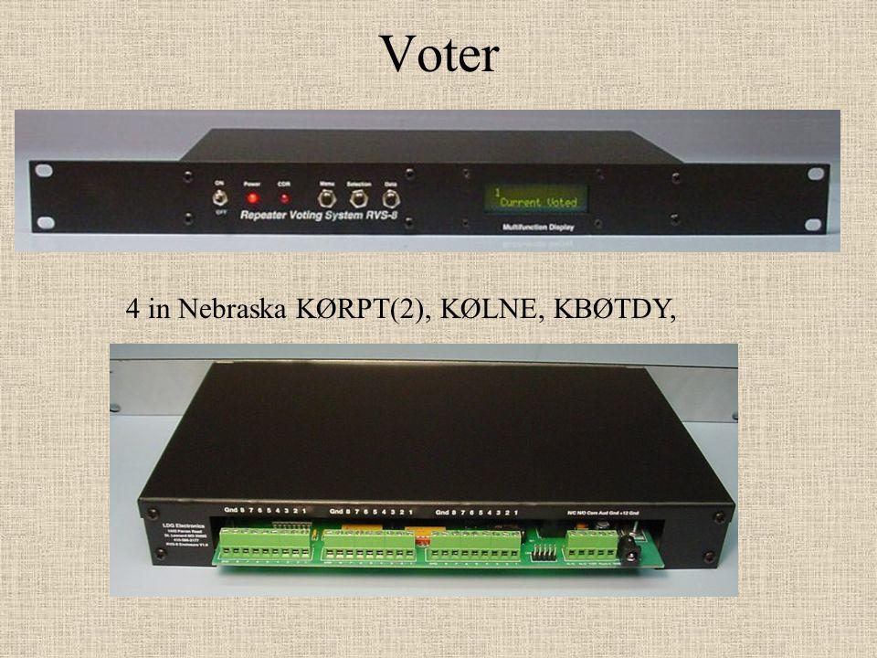Voter 4 in Nebraska KØRPT(2), KØLNE, KBØTDY,