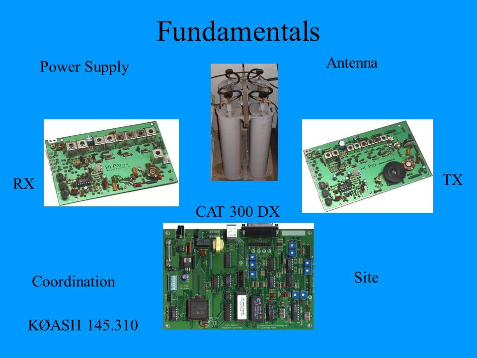 Fundamentals RX TX CAT 300 DX KØASH 145.310 Power Supply Antenna Site Coordination