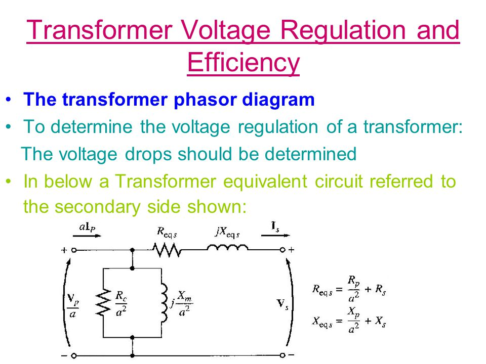 Transformer Taps & Voltage Regulation Taps on transformer permit transformer to be adjusted in field to accommodate variations in tap voltages While this tap can not be changed when power is applied to transformer Some times voltage varies widely with load, i.e.