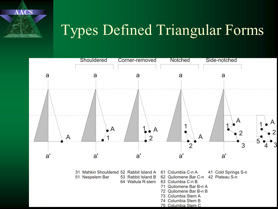 AACS Types Defined Triangular Forms