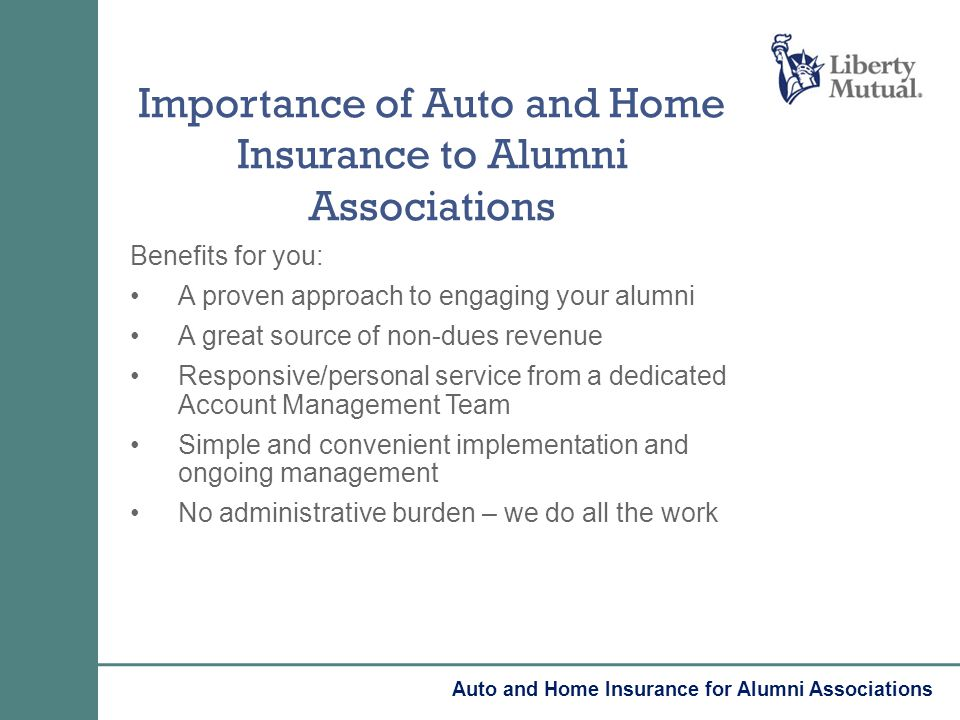 Benefits for you: A proven approach to engaging your alumni A great source of non-dues revenue Responsive/personal service from a dedicated Account Ma