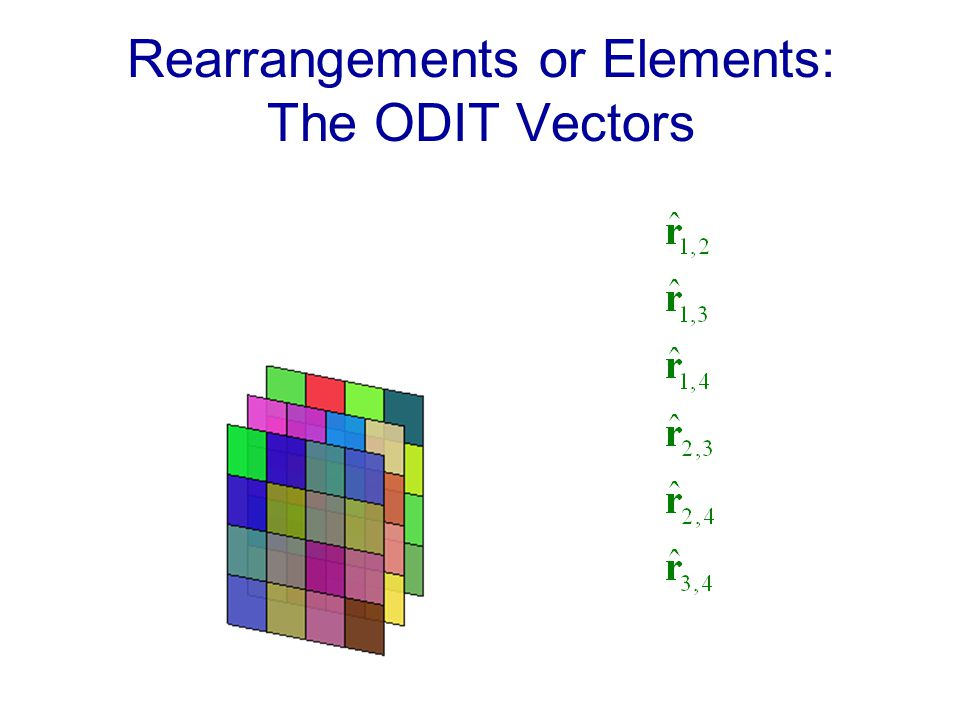Rearrangements or Elements: The ODIT Vectors