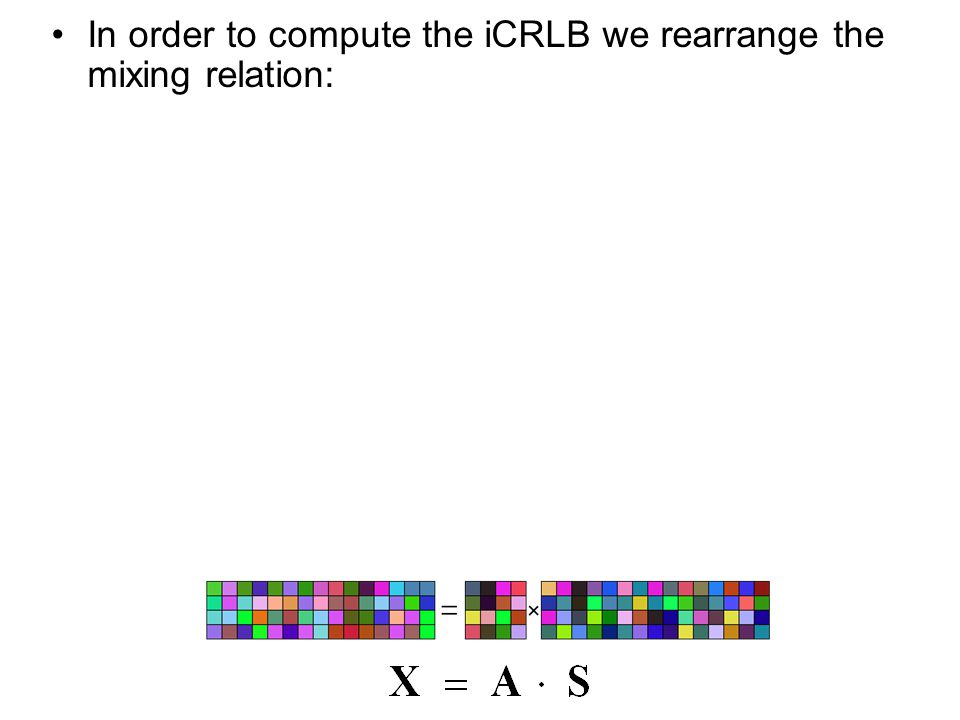 In order to compute the iCRLB we rearrange the mixing relation: