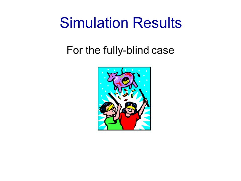 Simulation Results For the fully-blind case