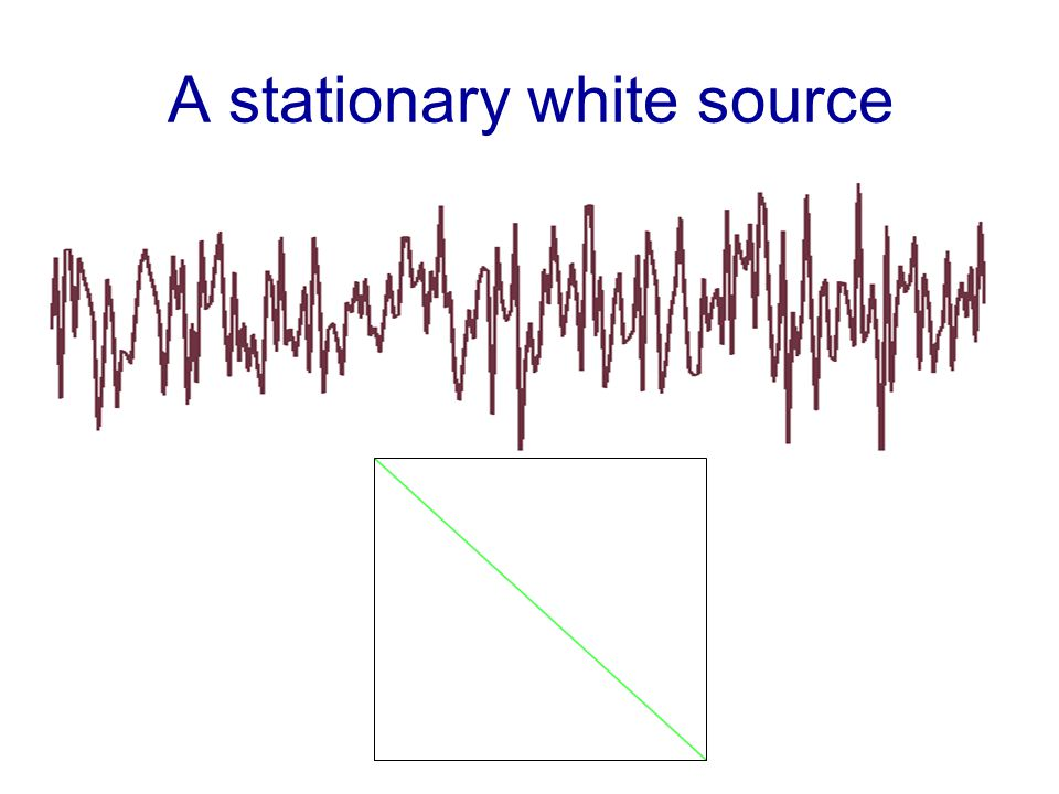 A stationary white source