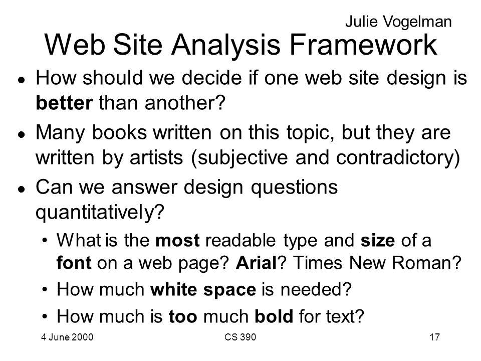 Web Projects Julie Vogelman: Framework for Web Site Analysis Felipe Huice: Biographical Database Server