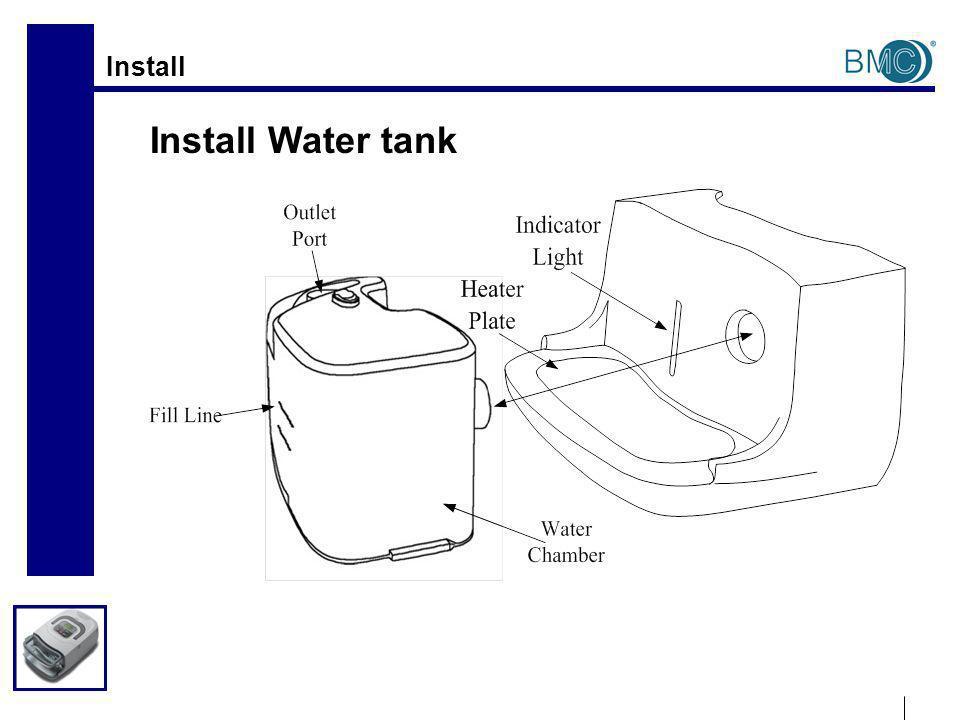 Install Install Water tank