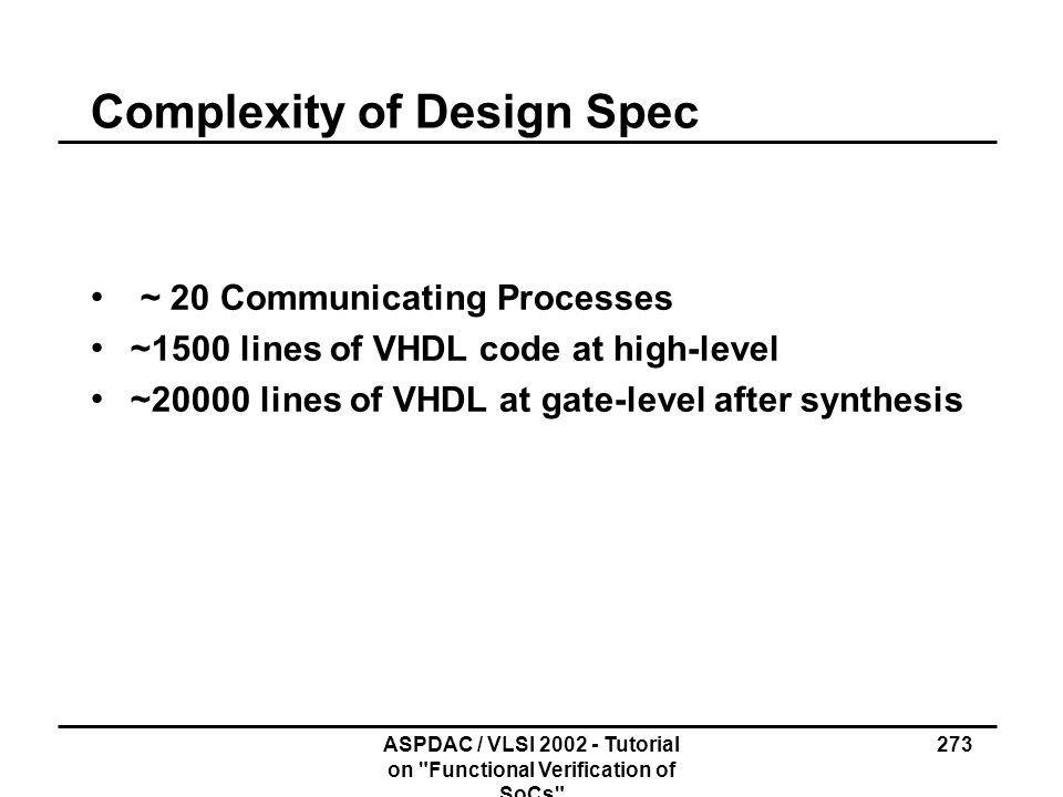 ASPDAC / VLSI 2002 - Tutorial on