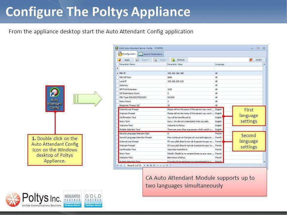 Configure The Poltys Appliance 1.