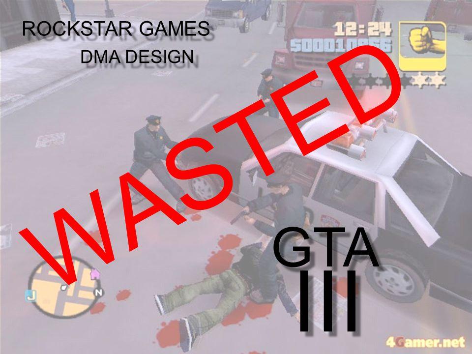 GTA III ROCKSTAR GAMES DMA DESIGN WASTED