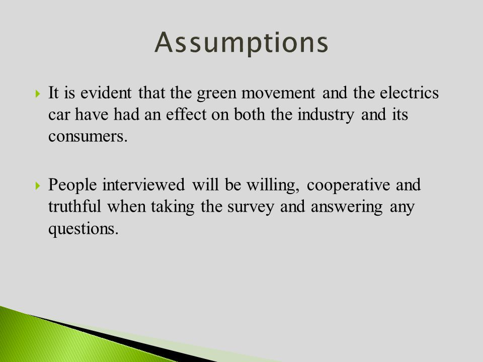 It is evident that the green movement and the electrics car have had an effect on both the industry and its consumers.