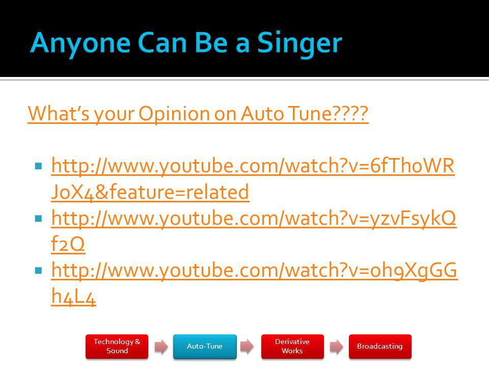 Whats your Opinion on Auto Tune???.
